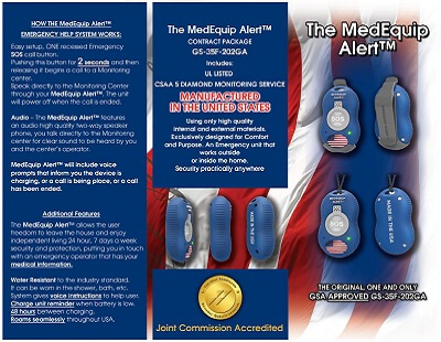 MedEquip Alert Button For Veterans Brochure